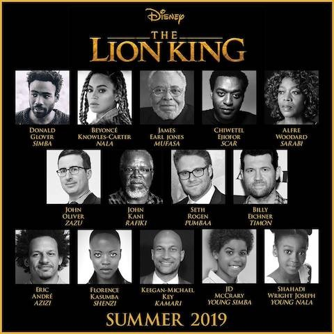 Beyonce and Donald Glover Confirmed The Lion King