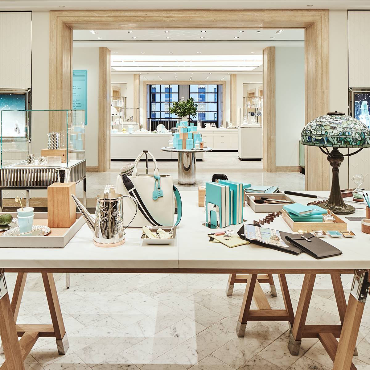 The new home and accessories floor at Tiffany's New York flagship