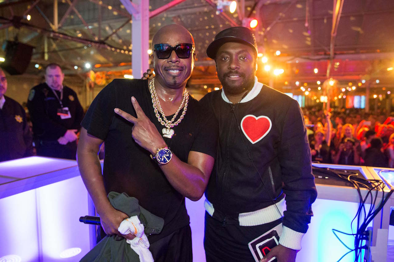 MC Hammer and Will.I.Am at last year's concert