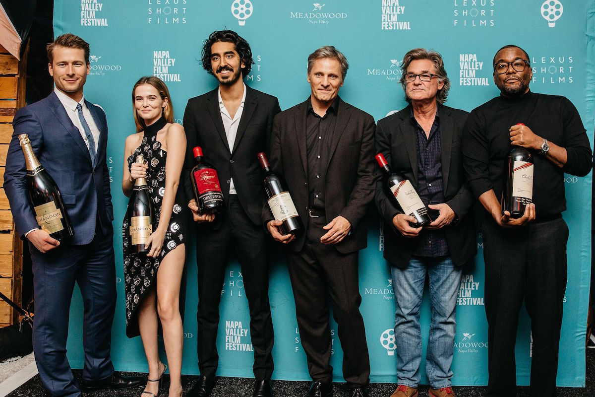 Last year's celebrity tributes, from left: Glen Powell, Zoey Deutch, Dev Patel, Viggo Mortensen, Kurt Russell and Lee Daniels
