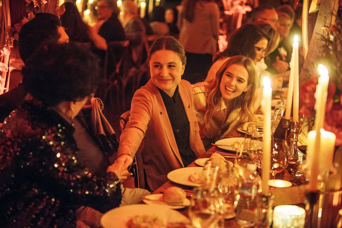 Zoey Deutch, right, at a dinner at the 2016 NVFF