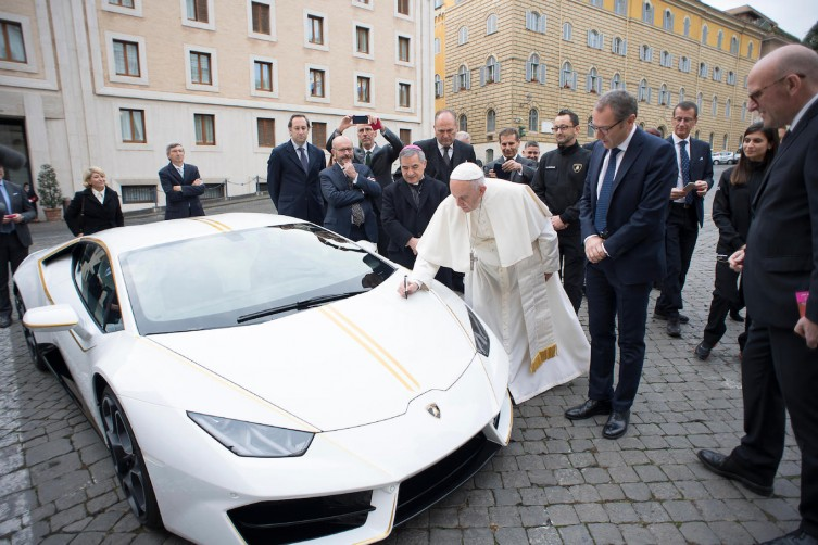 Pope Francis Receives And Blesses $200k Lamborghini haute living tita carra