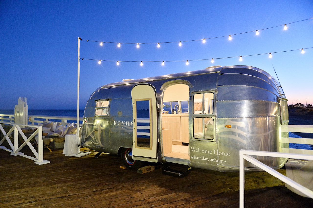The Jenni Kayne Home Collection airstream trailer