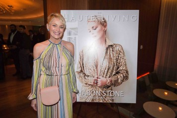 Haute Living Celebrates Sharon Stone With Hublot At The Miami Beach Edition's Matador Room