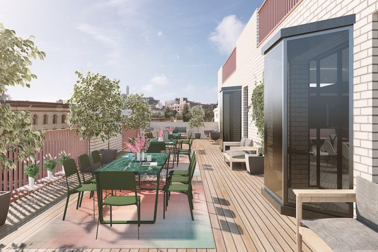 What the outdoor patio will look like