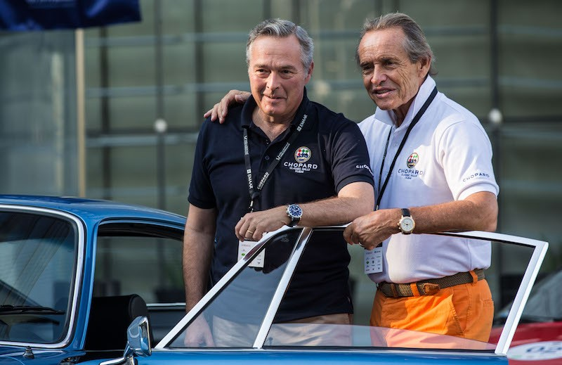 Karl Friedrich Scheufele and Jacky Ickx