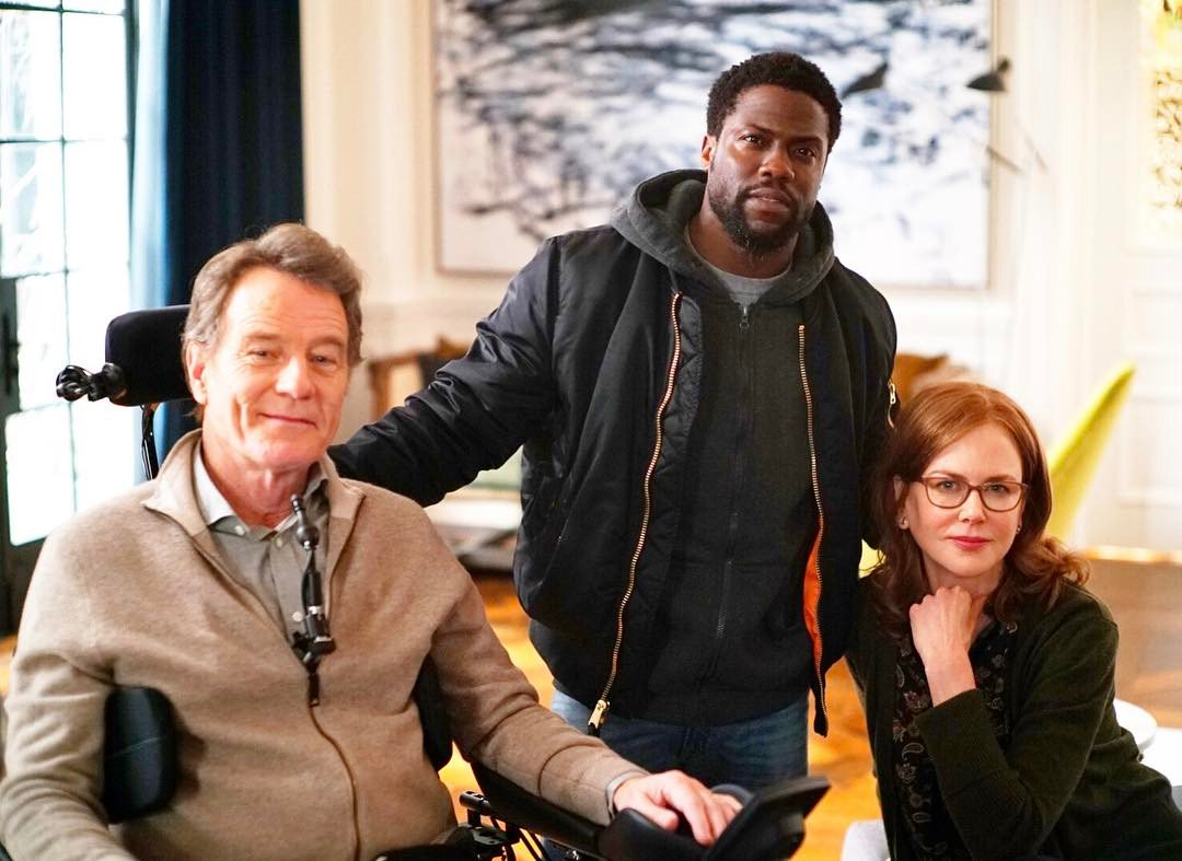 A scene from The Upside starring Kevin Hart, Bryan Cranston, and Nicole Kidman