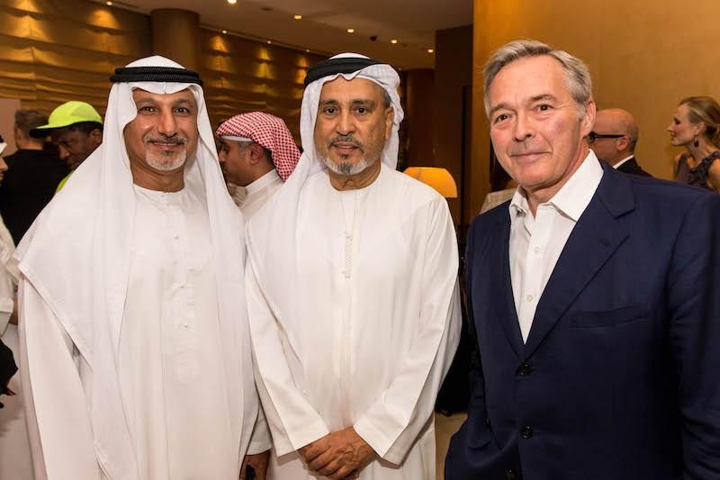 L to R: Mohammed Al Ghaith, Abdul Hamied Seddiqi and Karl Friedrich Scheufele