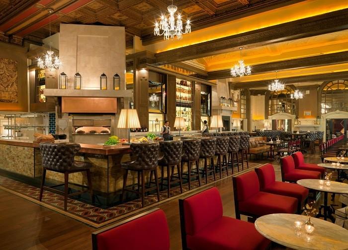 Oak Long Bar + Kitchen