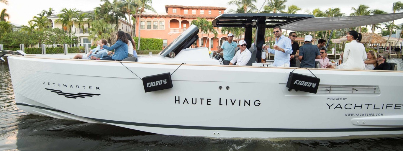 Inside Haute Living's Hospitality Mansion With JetSmarter and YachtLife At FLIBS