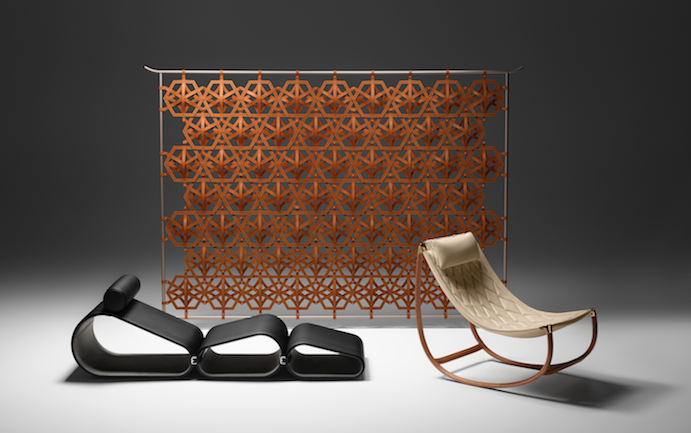 Lounge Chair, Diamond Screen and Lune Chair by Marcel Wanders