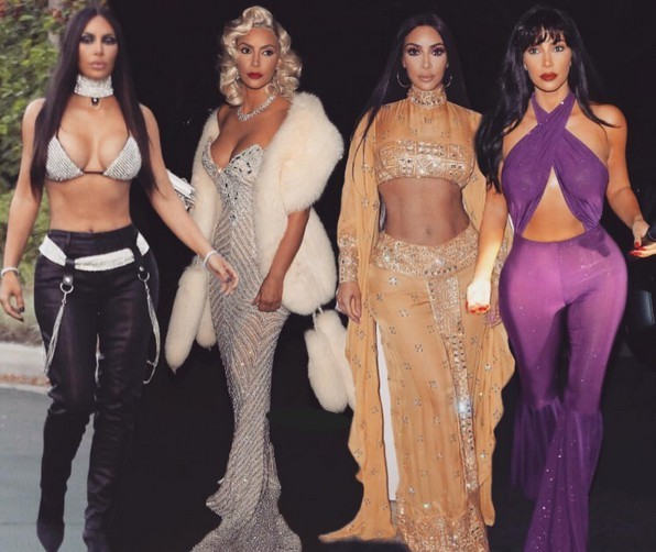 Halloween Kim Kardashian.All The Costumes Kim Kardashian Wore For Halloween 2017
