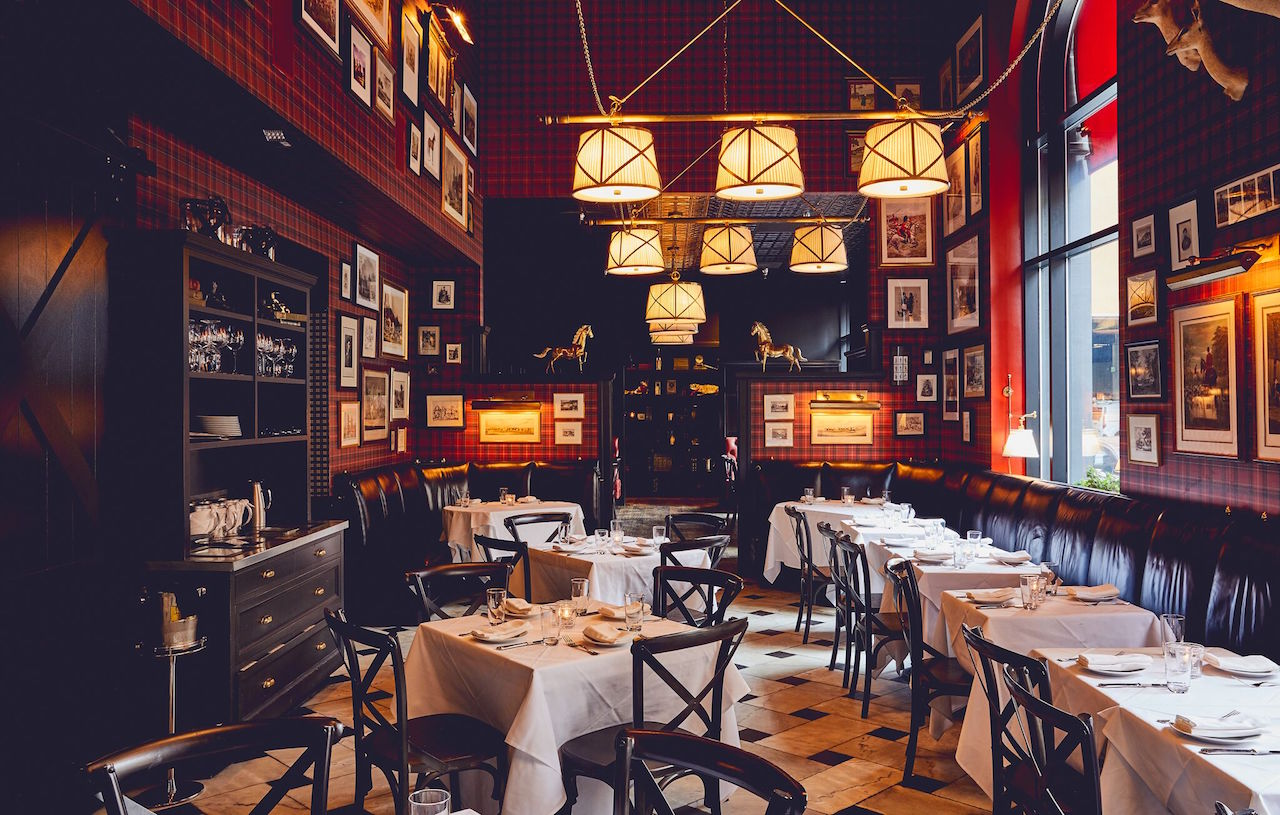 The dining room at The Cavalier