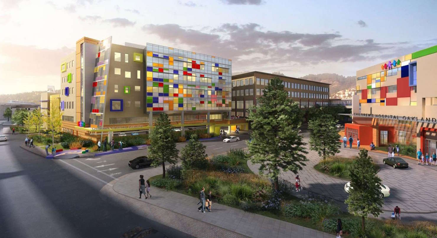 A rendering of the UCSF Benioff Oakland hospital that will debut in 2020