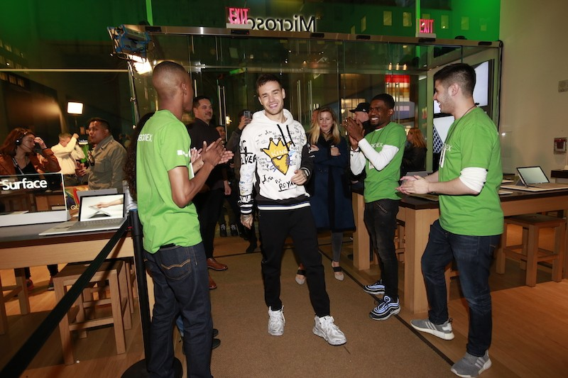 Liam Payne at World's Most Powerful Console Xbox One X Worldwide Launch at the Fifth Ave. Microsoft Store