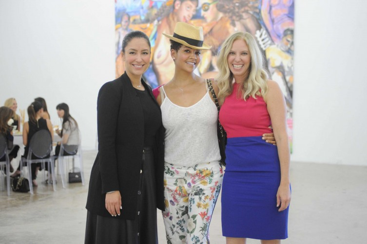 Violet Camacho, Tracy Mourning and Michelle Rubell