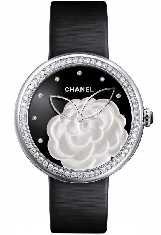 Chanel Mademoiselle Privé Camélia Nacré Watch