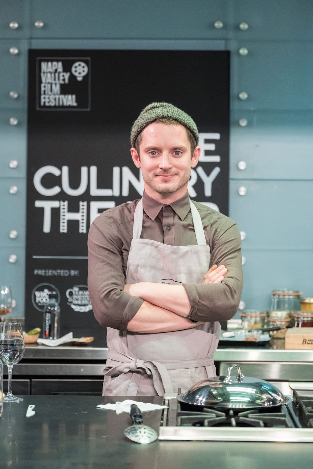 Elijah Wood at a culinary event