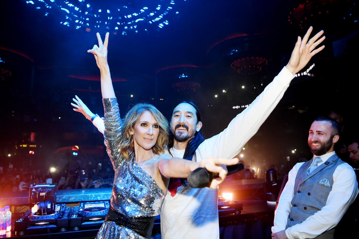 Benefit Concert For Vegas Victims By Hakkasan Group Raises Millions celine dion steve aokie kaskade tiesto haute living tita carra
