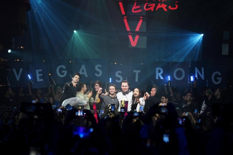Over One Million Dollars Raised By Hakkasan Group For Vegas Victims celine dion steve aokie kaskade tiesto haute living tita carra