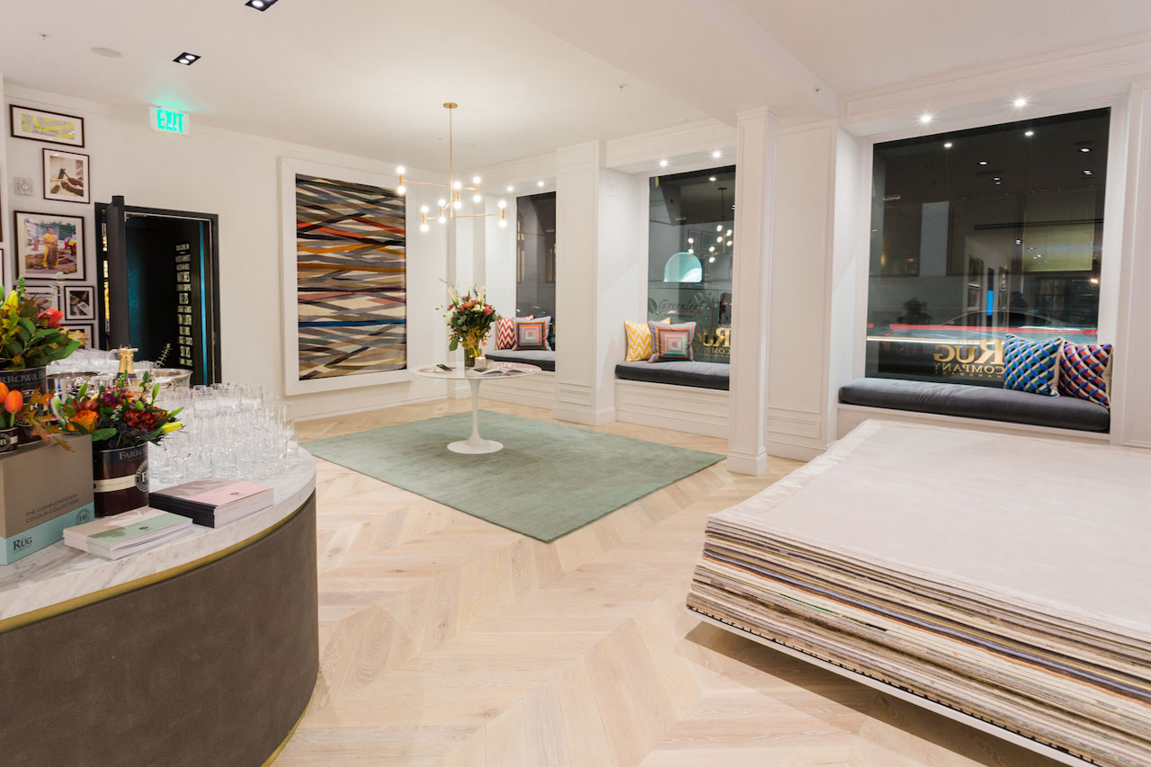 The Rug Company in San Francisco displays the new Farrow & Ball rugs