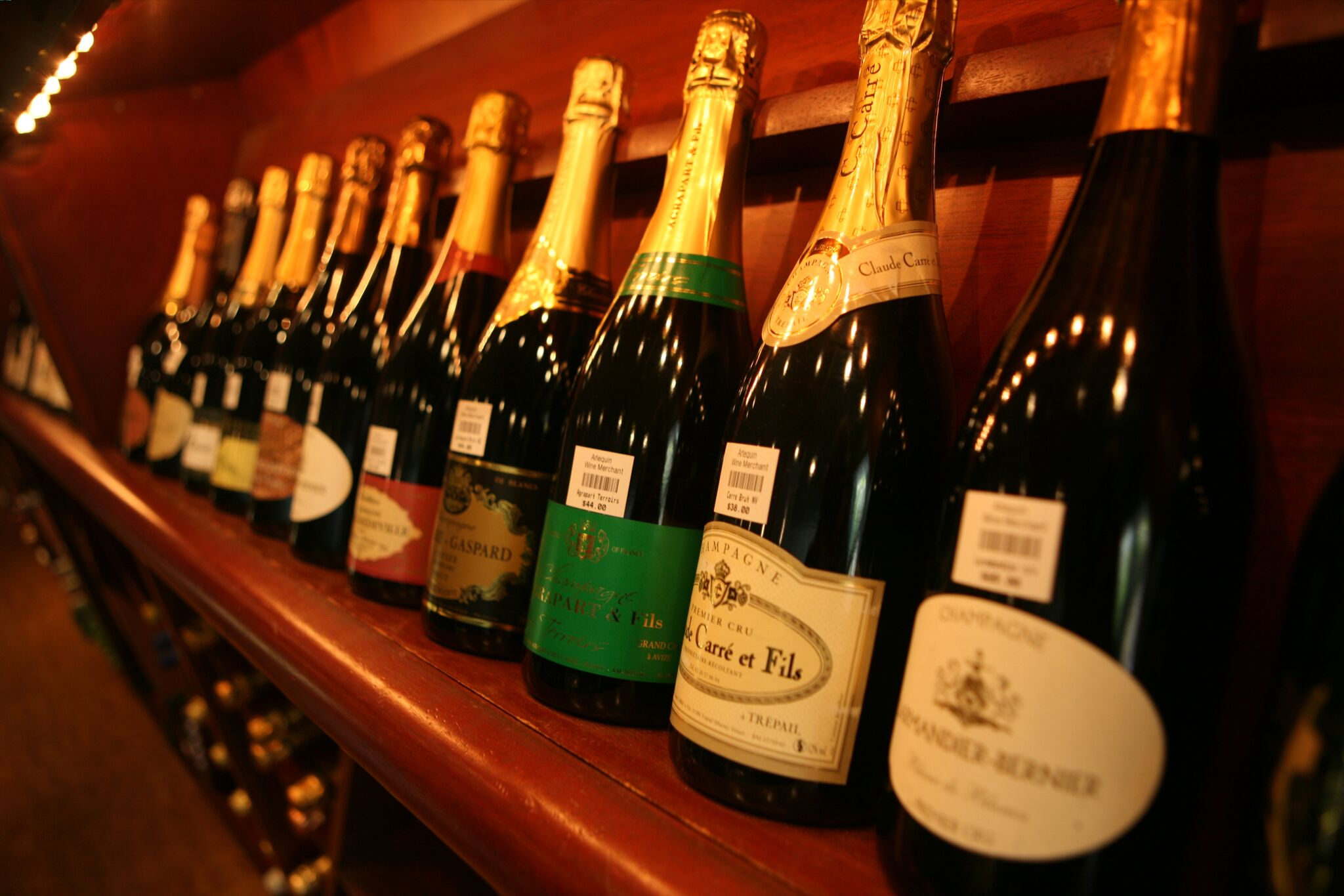 Arlequin's champagne selection