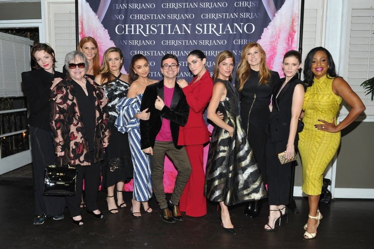 (L-R) Nicole Laliberte, Kathy Bates, Sarah Rafferty, Alicia Silverstone, Sarah Hyland, Christian Siriano, Isabelle Fuhrman, Selma Blair, Connie Britton, Kate Mara and Niecy Nash