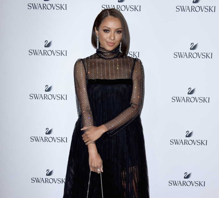 Kat Graham attends Swarovski's Holiday Collection Launch at The Grove
