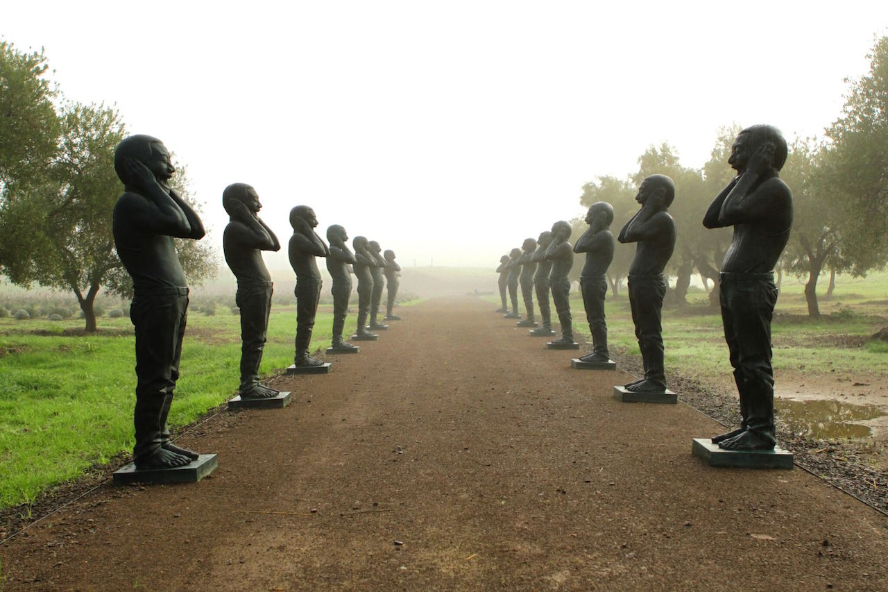 Yue Minjun's Contemporary Terracotta Warriors