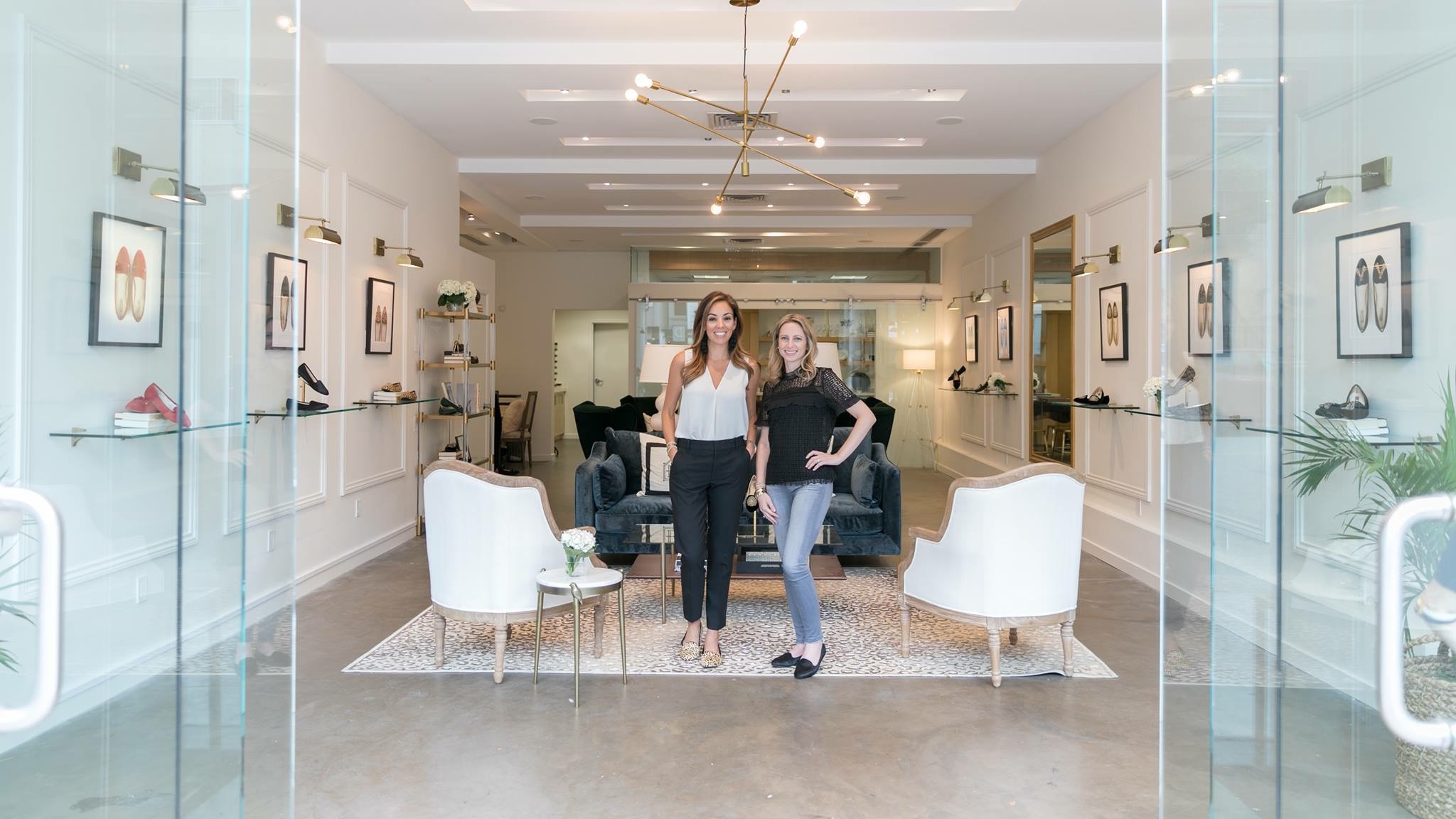 Bianca Gates and Marisa Sharkey pose inside Birdies