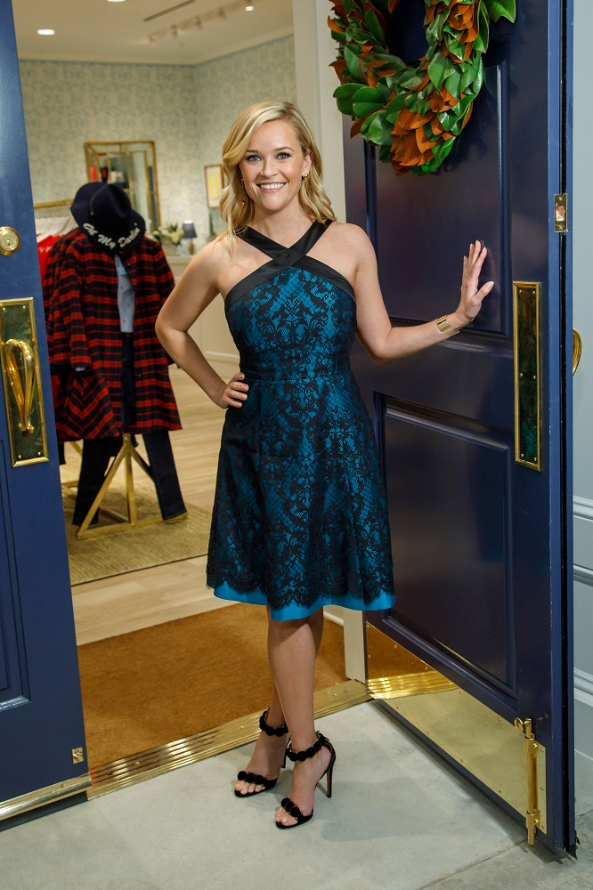 Reese Witherspoon at her newest location for Draper James in Atlanta