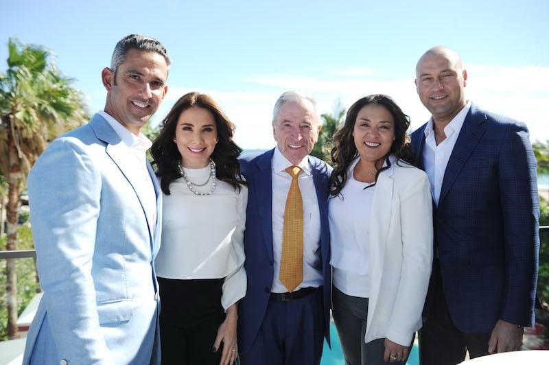 Jorge Posada, Laura Posada, Jules Trump, Sharlee Jeter, & Derek Jeter