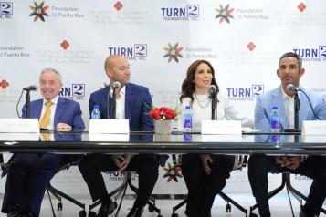 Jules Trump, Derek Jeter, Laura Posada, & Jorge Posada speaking3