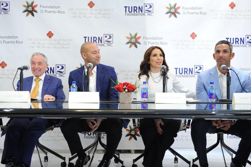 Jules Trump, Derek Jeter, Laura Posada, & Jorge Posada