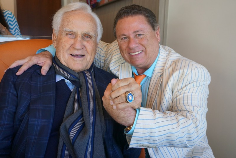 Robert Zarco and Don Shula