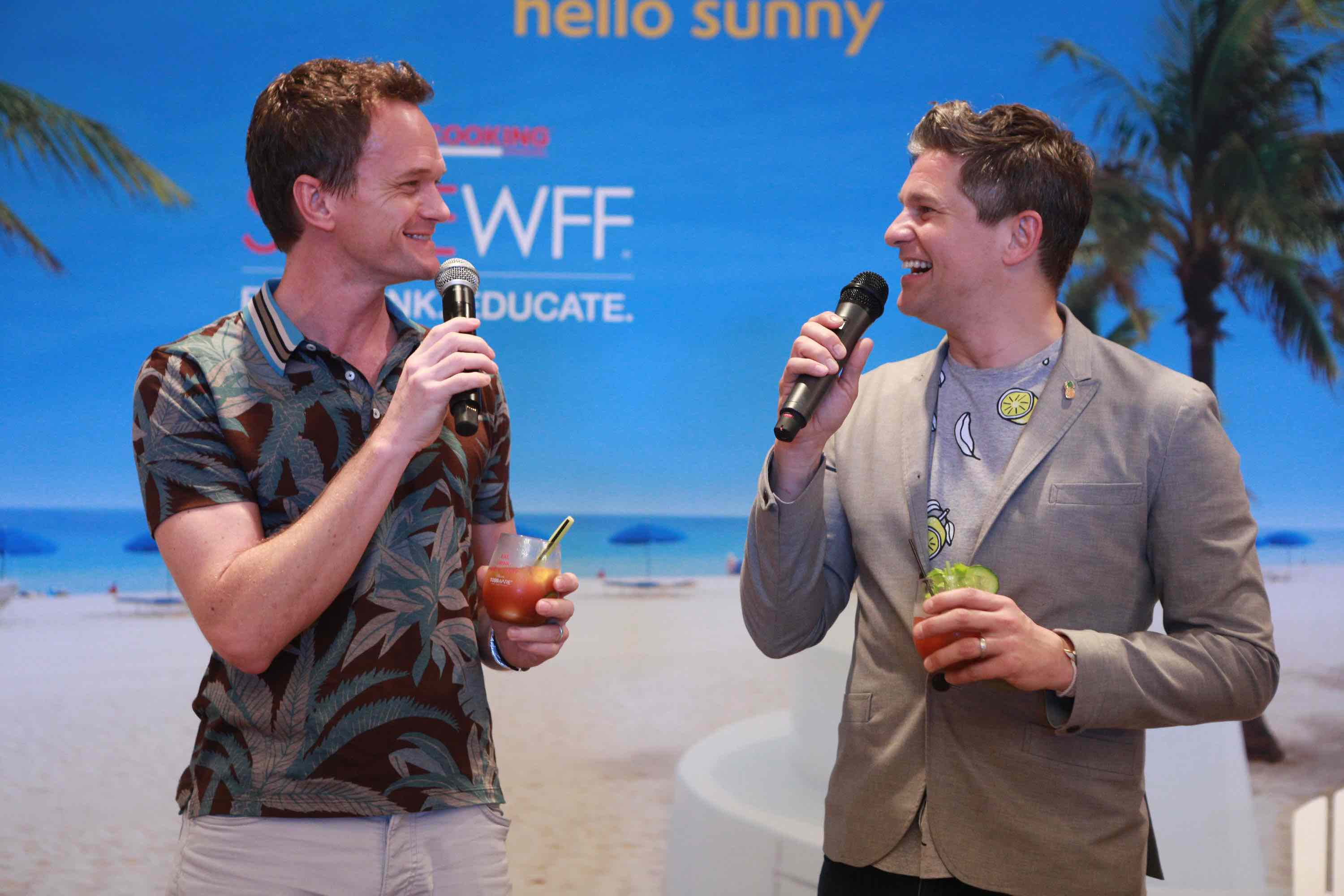 Neil Patrick Harris & David Burtka12 at Bloody Mary Brunch hosted by David Burtka & Neil Patrick Harris Part of the Taste Fort Lauderdale Series - 2017 Food Network & Cooking Channel South Beach Wine & Food Festival at The Ritz-Carlton, Fort Lauderdale on February 26, 2017 in Fort Lauderdale, Florida