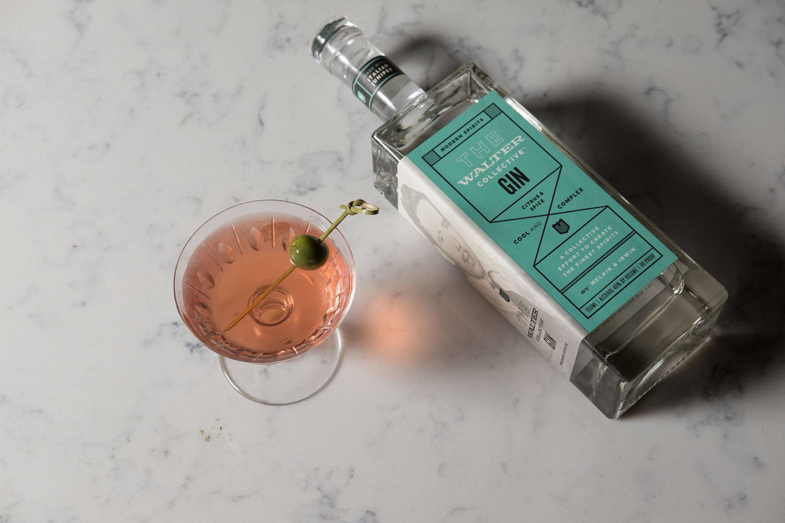 Pink + White cocktail
