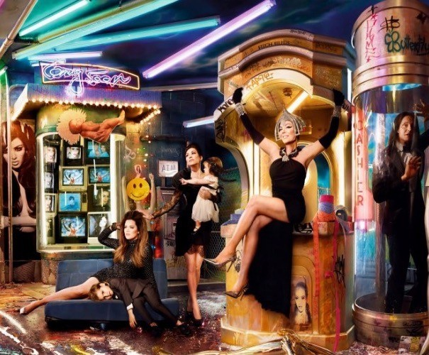 Still from The Kardashians Christmas Card by David LaChapelle
