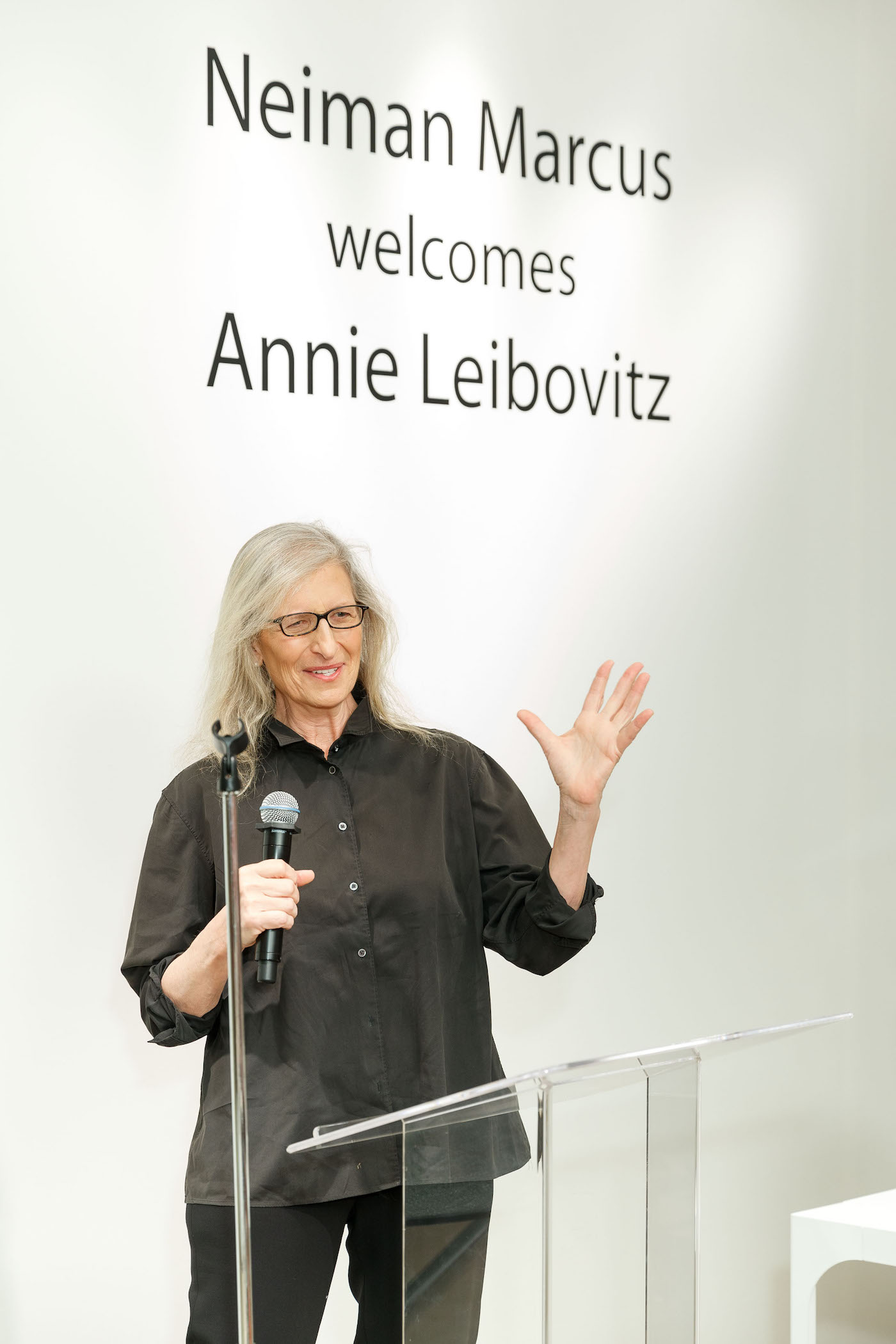 Annie Leibovitz at a book signing at Neiman Marcus in San Francisco