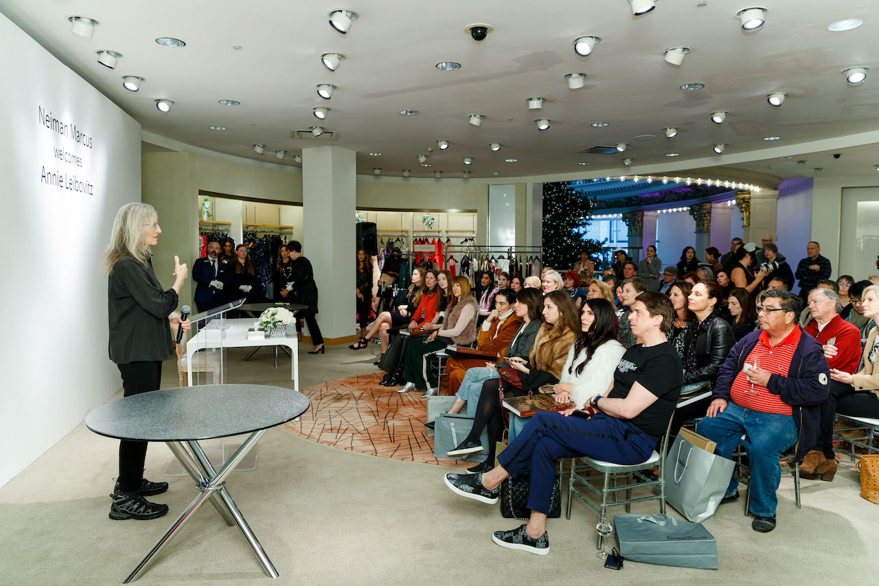 The crowd at the Neiman Marcus event