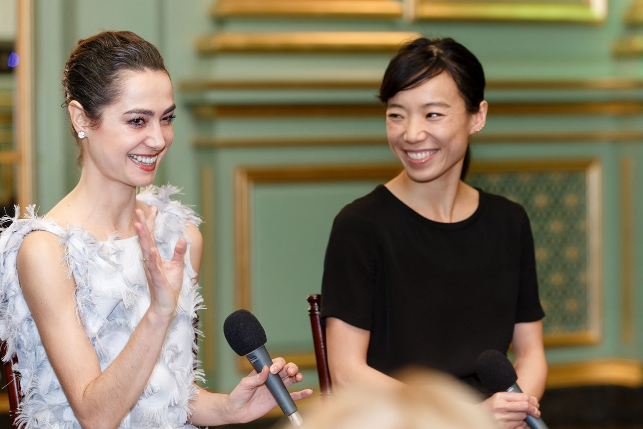 Principal dancers Mathilde Froustey and Frances Chung