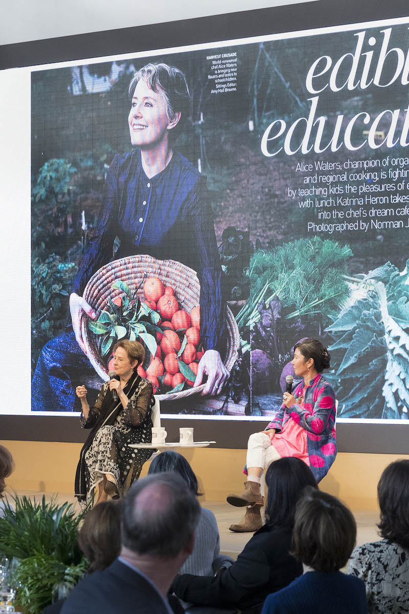 Alice Waters and Christina Kim at the Innovators Luncheon at Fog