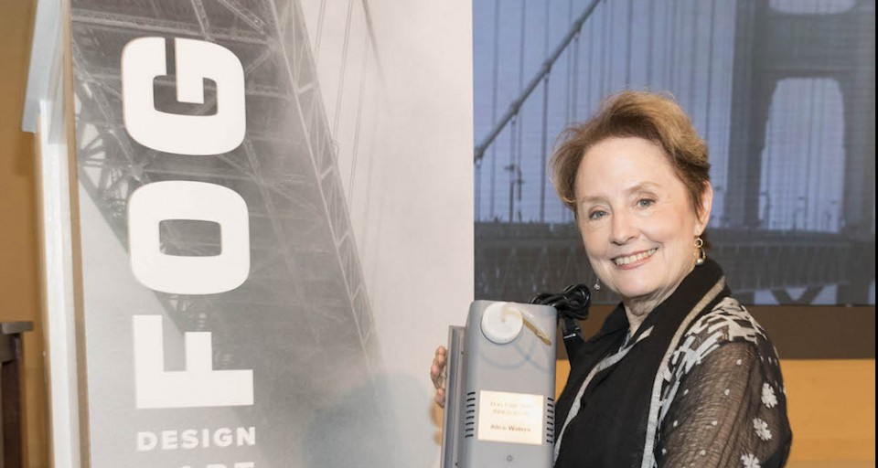 Chef Alice Waters Honored With Innovators Award At 2018 Fog