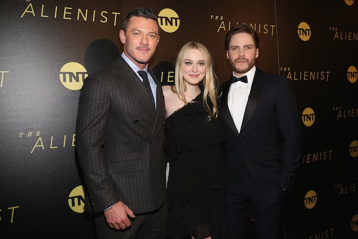 "Luke Evans, Dakota Fanning and Daniel Bruhl at the New York Premiere of TNT's ""The Alienist"""