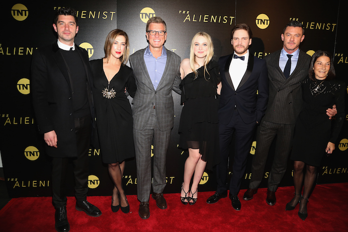 Jakob Verbruggen, Guest, Kevin Reilly, Dakota Fanning, Daniel Bruhl, Luke Evans and Rosalie Swedlin