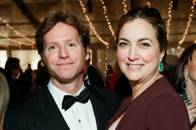 SAN FRANCISCO, CA - December 12 -  Trevor Traina and Alexis Traina attend An Elegant Evening in the Court of Honor on December 12th 2017 at Legion of Honor in San Francisco, CA (Photo - Drew Altizer)