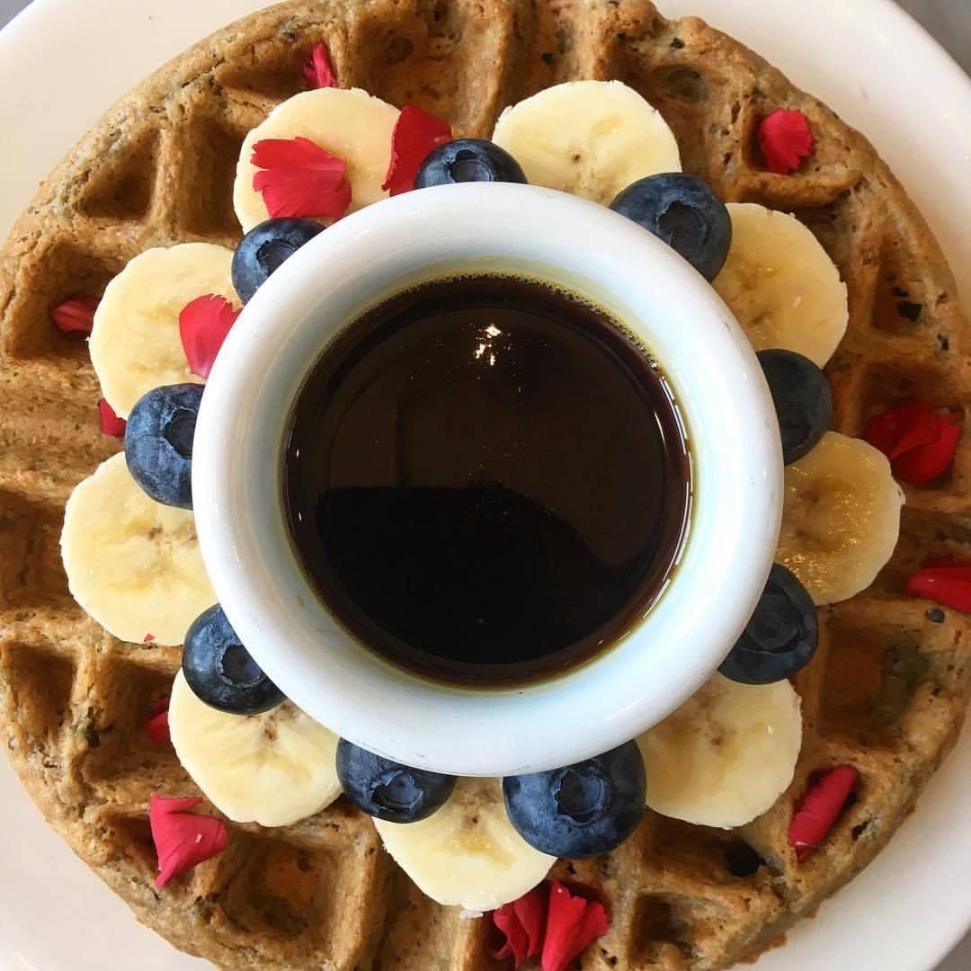 Nourish Cafe's waffle