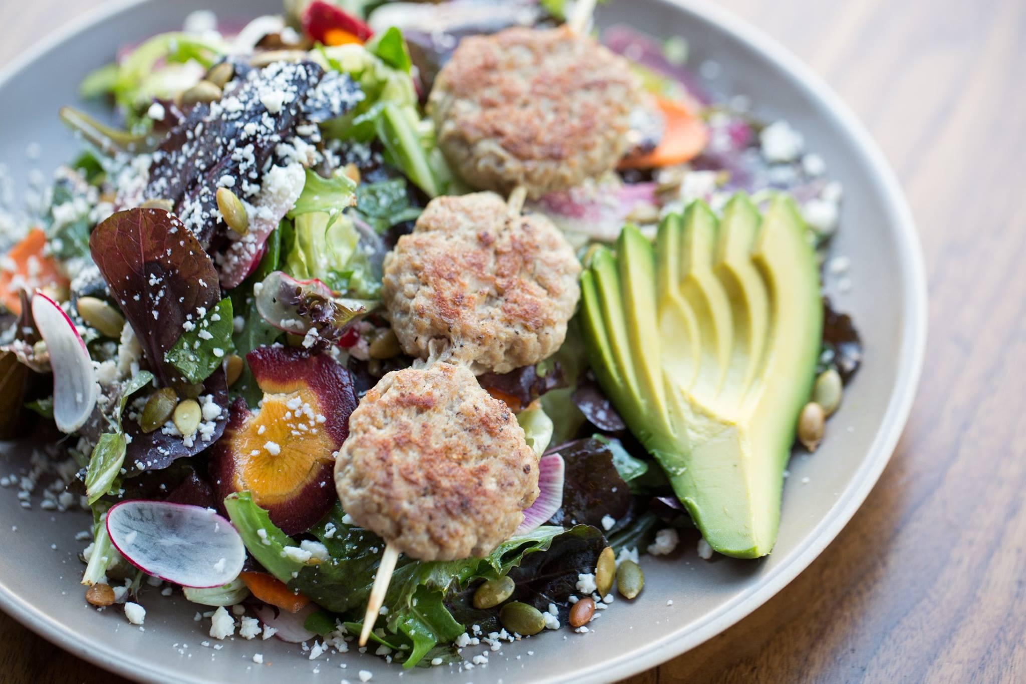A salad by Roam Burgers