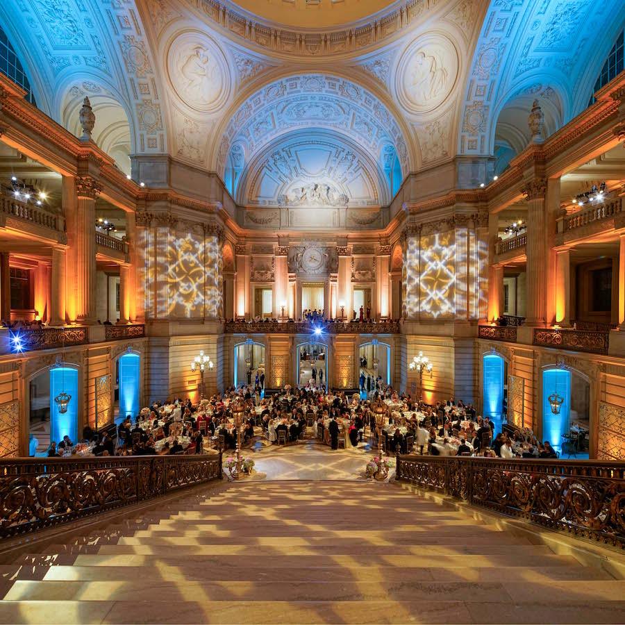 Decor at last year's opening night gala