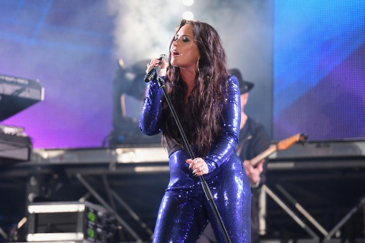 Demi Lovato performs onstage at Fontainebleau Miami Beach.